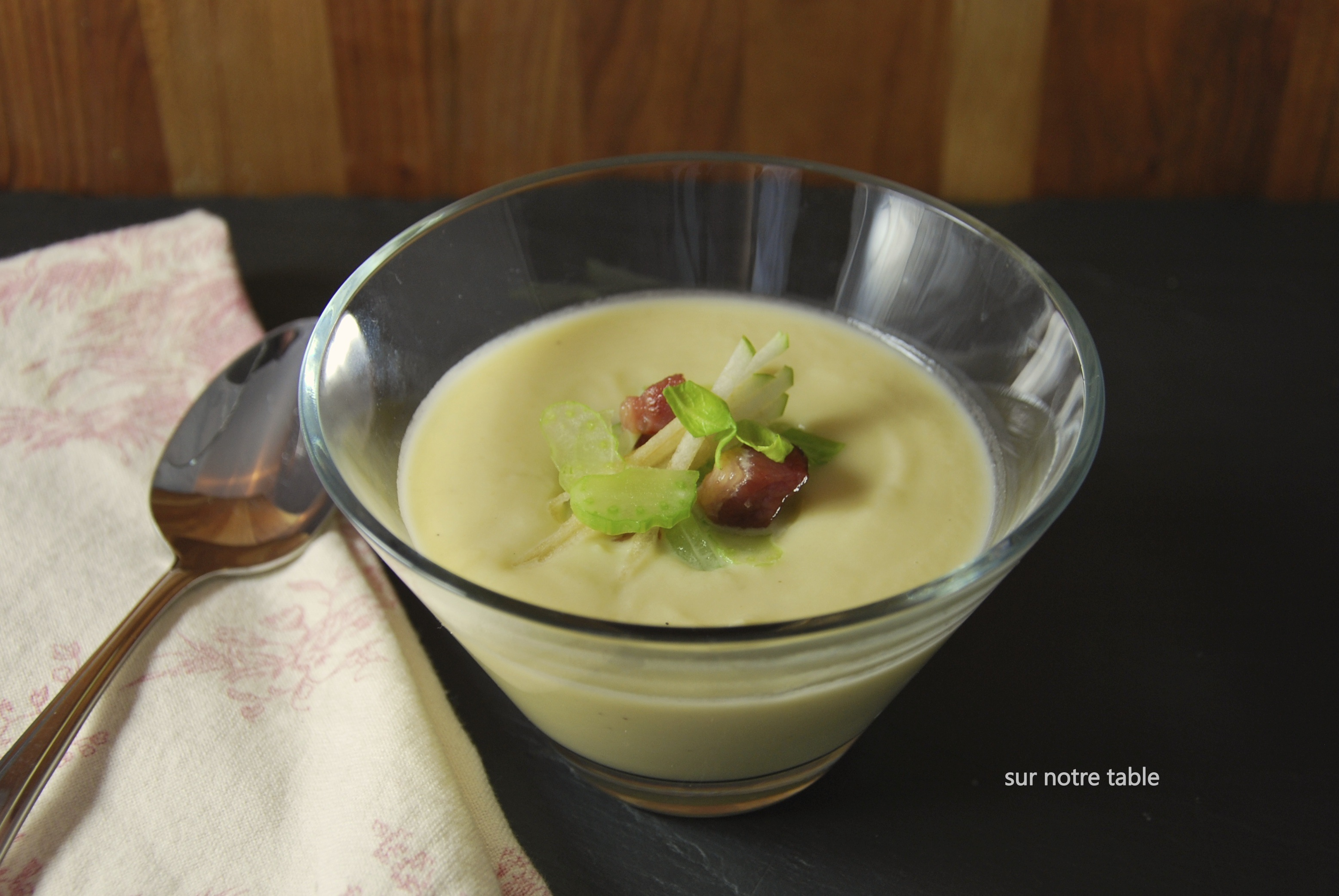 Celery-Root Soup With Bacon And Green Apple Recipes — Dishmaps