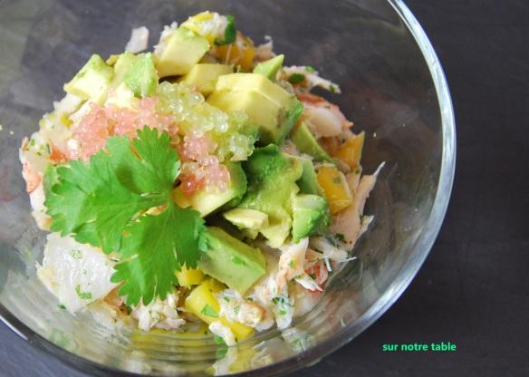 shrimp, crab and avocado appetizer