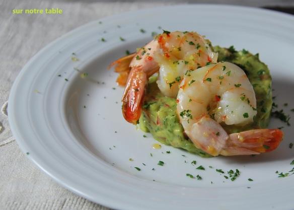 spicy shrimp and guacamole