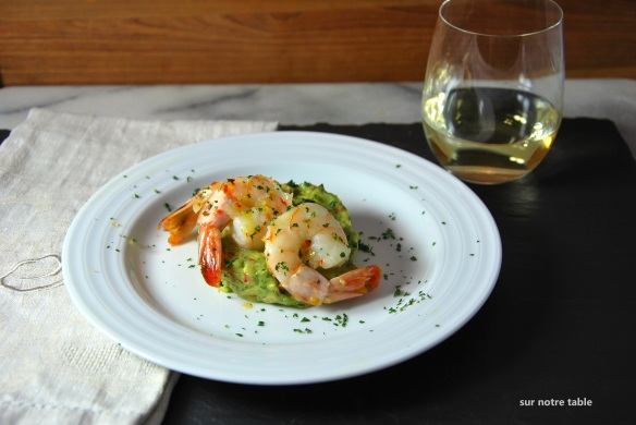 spicy shrimp and guacamole