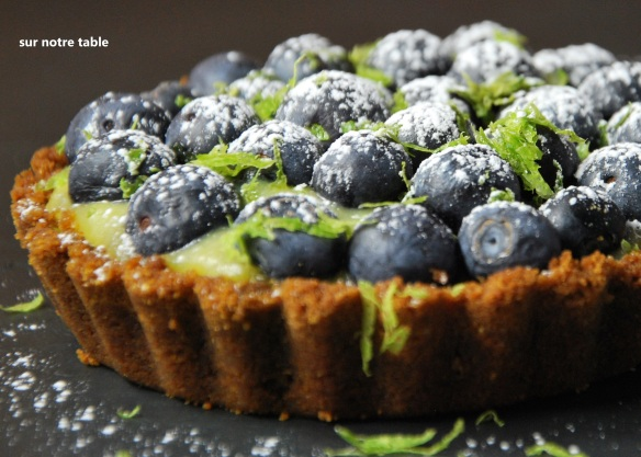 blueberry lime tartlet