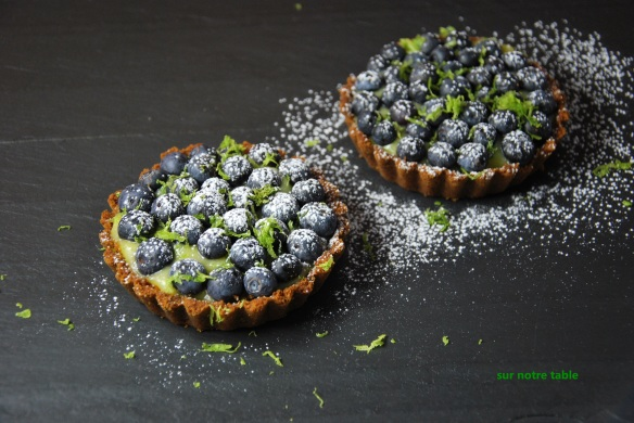 blueberry lime tartlets