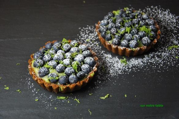blueberry lime tartlets
