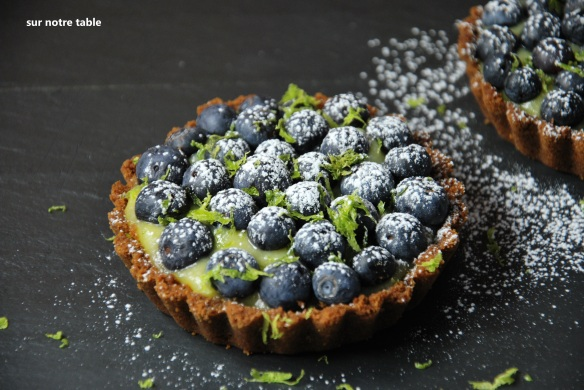 blueberry lime tartlet