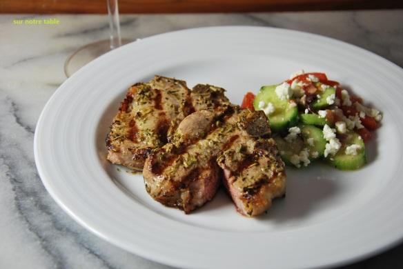 grilled lamb chops à la provençale