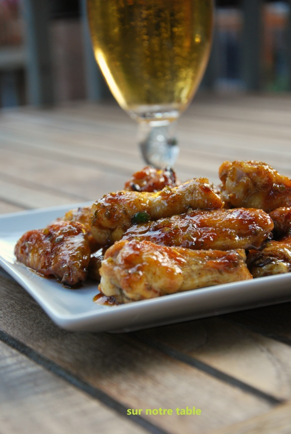 spicy sweet sticky wings